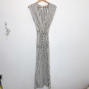 Urban Outfitters maxi dress in black white stripe